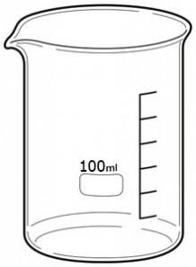 Beaker บีกเกอร์ แก้ว 100มล.
