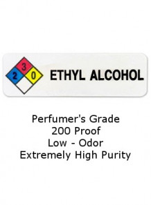 Ethyl Alcohol (99.9% , 200 Proof, Perfumer Grade)