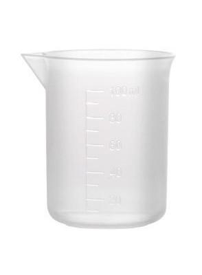 บีกเกอร์พลาสติก PP Beaker 25มล. (ไม่มีหูจับ)