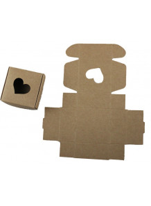 กล่องกระดาษแข็ง ใส่สบู่ รูปหัวใจ