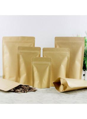 ถุงกระดาษ มีซิป ก้นตั้งได้ 15x21+4ซม.