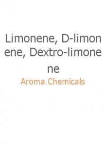 Limonene, D-limonene, Dextro-limonene