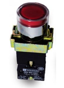 สวิทช์ XB2 ZB2 กดแล้วค้าง LED สีแดง 220V