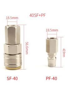 ชุดข้อต่อลม สวมเร็ว SF+PF-40