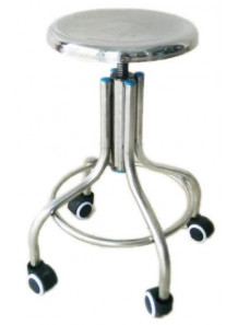 เก้าอี้สแตนเลส (เกรด 201) มีล้อเลื่อน ปรับระดับได้