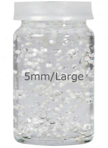 White Lactose/Vitamin E Beads 5mm