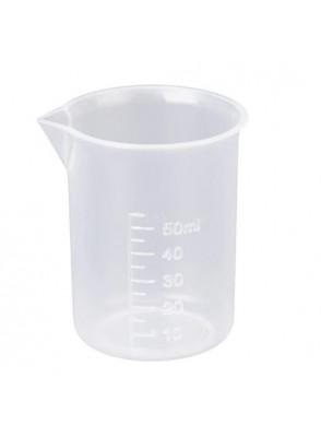 บีกเกอร์พลาสติก PP Beaker 50มล. (ไม่มีหูจับ)