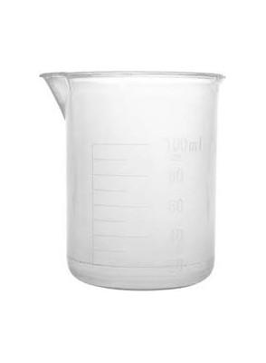 บีกเกอร์พลาสติก PP Beaker 100มล. (ไม่มีหูจับ)