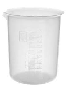 บีกเกอร์พลาสติก PP Beaker 1000มล. (ไม่มีหูจับ)