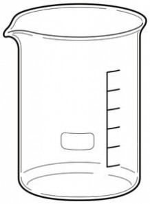 Beaker บีกเกอร์ แก้ว 25มล.