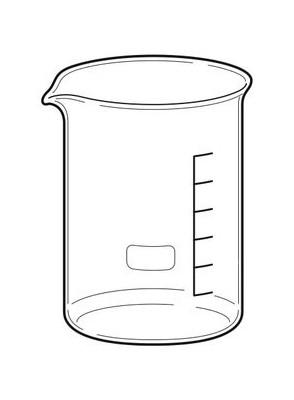 Beaker บีกเกอร์ แก้ว 800มล.