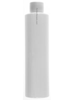 ขวดพลาสติกสีขาว ทรงกลมสูง ฝาสครู ขาว 200ml