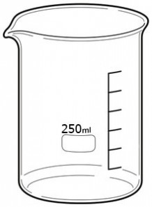 Beaker บีกเกอร์ แก้ว 250มล.