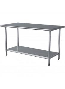 โต๊ะแสตนเลส 2ชั้น ขนาด 120x70x80ซม (เกรด 201)