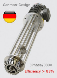 Homogenizer 4000วัตต์ (5.4แรงม้า, 3เฟส) หัวปั่น 12ซม. (เฉพาะหัว)