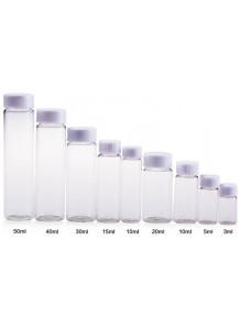 ขวดแก้ว ใส 10ml ฝาเกลียวขาว (18 x 65mm)