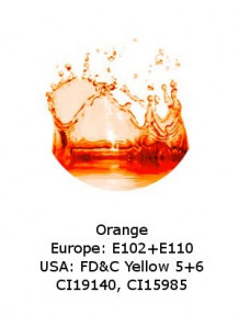 Orange Powder‎ (E102+E110 / FD&C 5+6)
