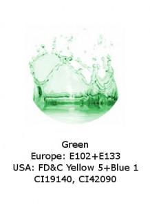 Green  Powder (E133 / FD&C Yellow 5+Blue 1)