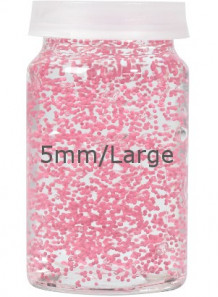 Pink Lactose/Vitamin E Beads 5mm