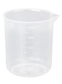 บีกเกอร์พลาสติก PP Beaker 500มล. (ไม่มีหูจับ)