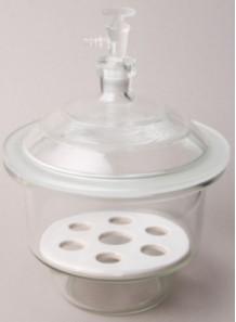โถดูดความชื้นแก้ว สูญญากาศ Desiccator Vacuum 150mm