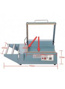(อะไหล่) ฐานซิลิโคน เครื่องตัด ชริ้งฟิล์ม แบบม้วน (1ชุด ชิ้นบน ชิ้นล่าง)