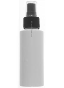 ขวดสเปรย์สีขาว ทรงกลมสูง ฝาสเปรย์ดำ 100ml