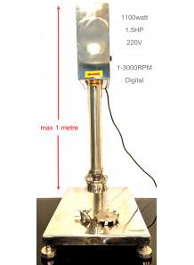 Homogenizer 1.5แรงม้า (1100วัตต์) 3,000รอบ เปลี่ยนหัวได้