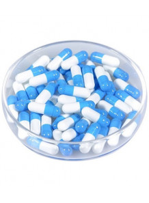 Capsule เปล่า สีฟ้า-ขาว เบอร์ 0 (10,000 เม็ด ต่อกล่อง)